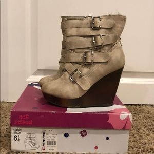 Not Rated wedge boots